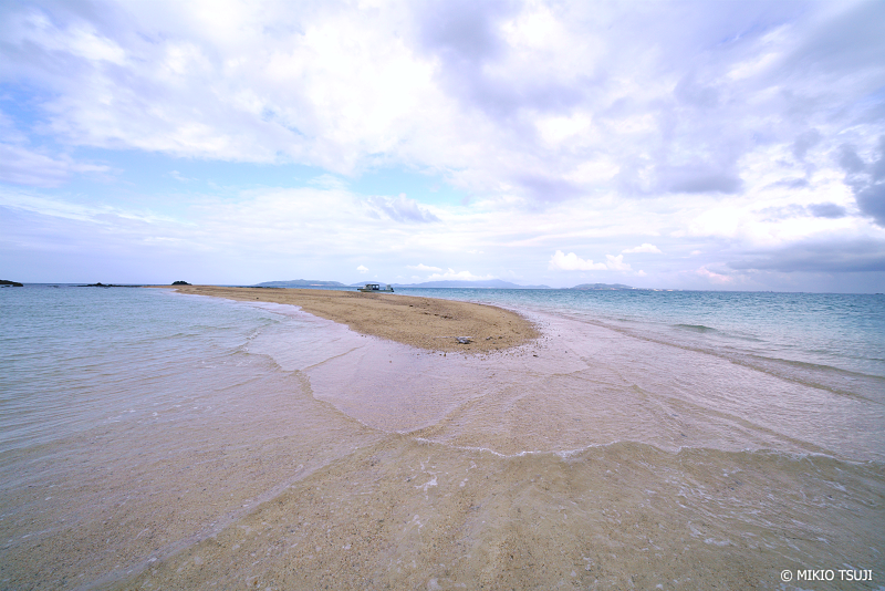 絶景探しの旅 - 絶景写真No.1346  海の真ん中に浮かぶ幻の砂浜「浜島」 (沖縄県 八重山郡 竹富町)