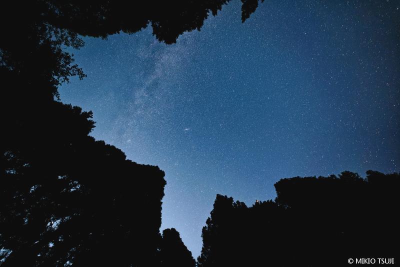 絶景探しの旅 - 絶景写真 No.1429 峠の夜空 (陣馬山 和田峠/神奈川県 相模原市)