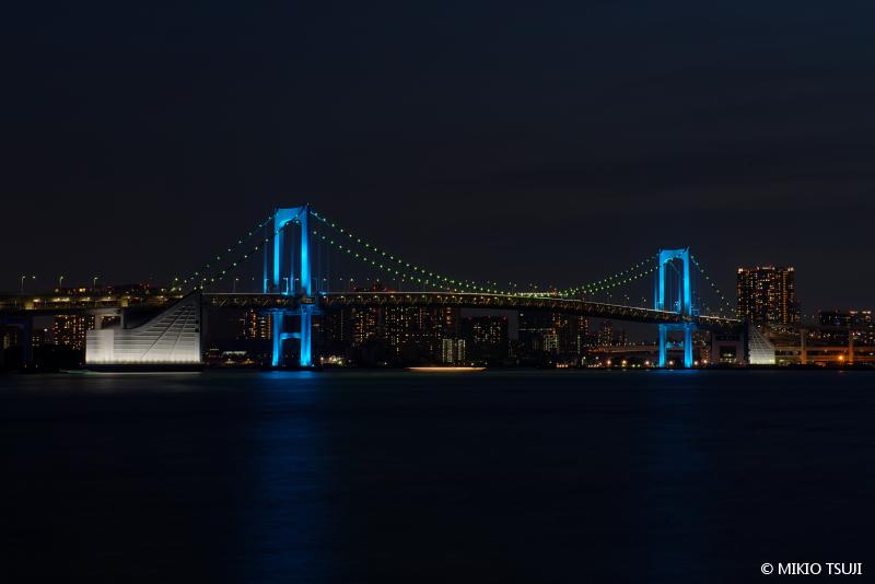 絶景探しの旅 - 絶景写真No.1487 レインボーブリッジの夜景 (豊洲ぐるり公園/東京都 江東区)