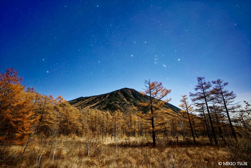 絶景探しの旅 - 絶景写真 No.1496 星がまたたく戦場ヶ原の風景 (栃木県 日光市)